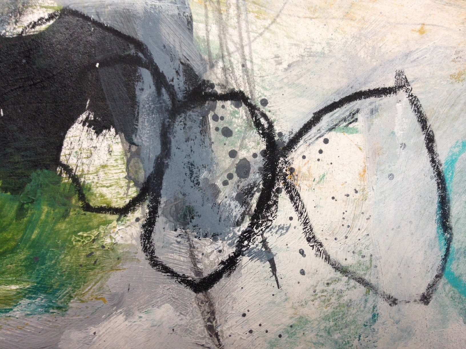 Details of the daily painting of Simone Nijboer on the about page. Dutch painter, abstract artist, creativity teacher