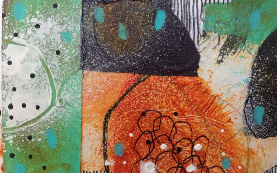 Daily Painting: Working with mono-coloured papers