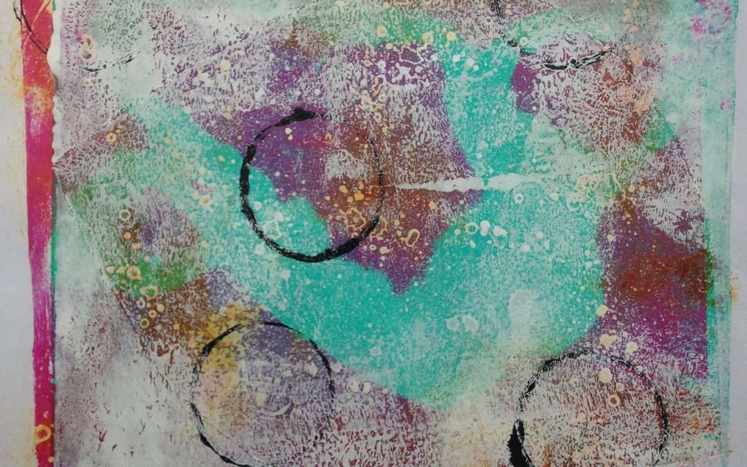 Daily Painting: First experiments in gelli printing